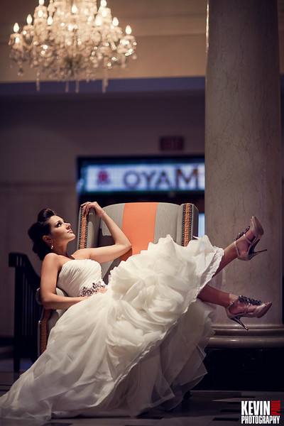 This photo was from a bridal session at the Mayo Hotel in Tulsa Oklahoma.