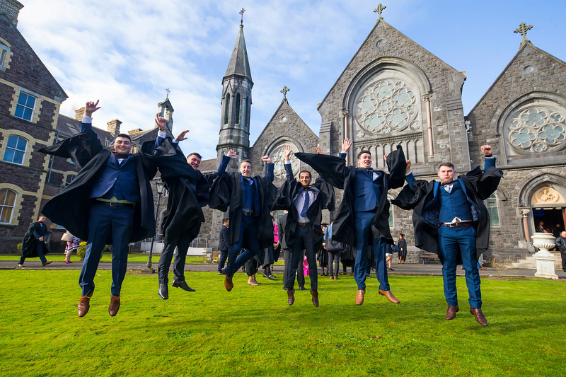 02/11/2017. FREE TO USE IMAGE. WIT (Waterford Institute of Technology) Conferring, Waterford City are Denis Tracey Kilkenny, James O'Niell Waterford, Kieran Joy Dunmore East, Co. Waterford, Gabrielle Furdui, Newcastle upon Tyne, Joe Irish Slieve Rue, Co. Kilkenny and Niall Daly Waterford who graduated Bachelor of Arts Honours in International Business. Picture: Patrick Browne