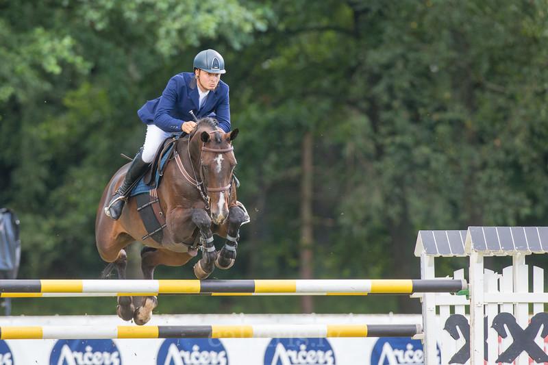Dawid KUBIAK (POL) with the horse BAGAZZA M, World Cup competition, Grand Prix Riga, CSI2*-W, CSIYH1* - Riga 2016, Latvia