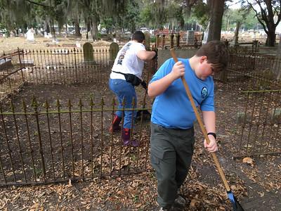 Oak Grove Cemetery Society Cleanup 01-14-17