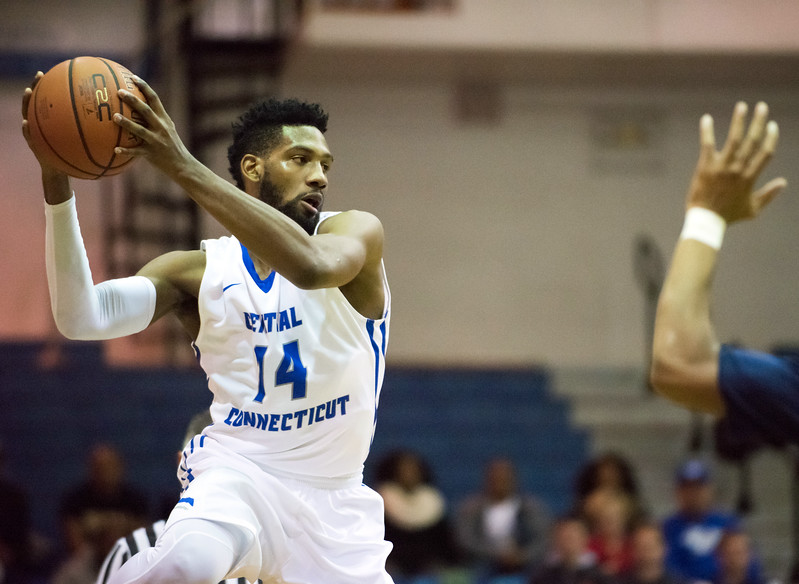 11/30/17   Wesley Bunnell   Staff  CCSU Men's Basketball defeated North Carolina A&T on Thursday evening at Derrick Gymnasium in New Britain. Deion Bute (14).