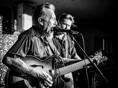 Joe & Over Riders, Welsh Rockabilly 2018 B&W