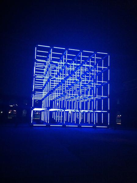 Creator's Park art installation at the Art Bridge in Brooklyn Heights/Dumbo area.