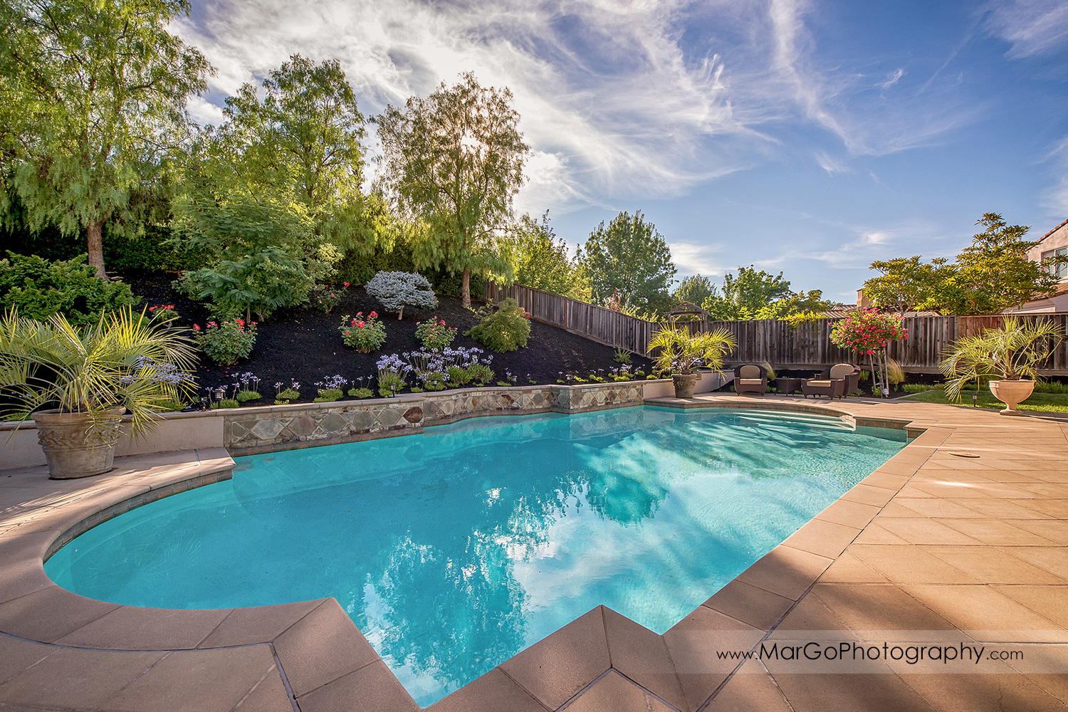 backyard swimming pool at San Ramon estate