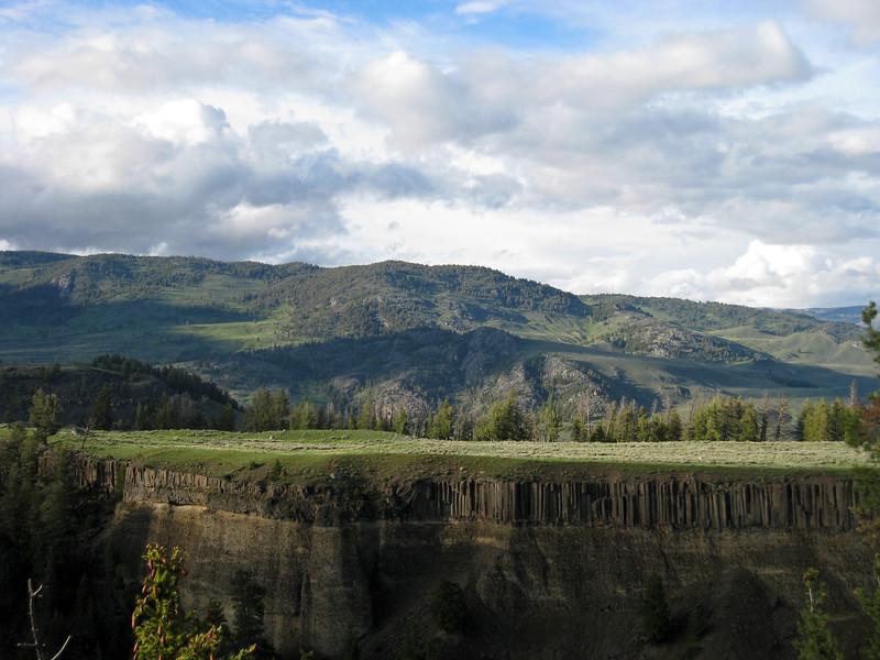 Basalt fence across the Yellowstone River