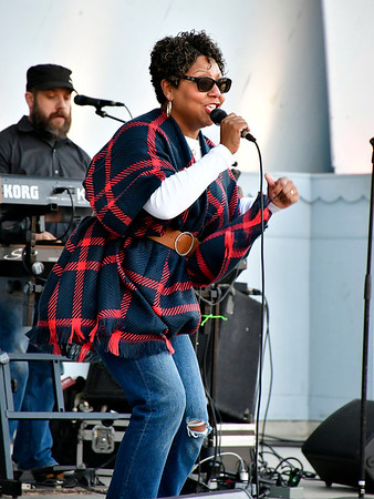 10/24/2019 Mike Orazzi | StaffrLatanya Farrell performs with her Band during the Lights On Afterschool event at Walnut Hill Park organized by the Youth and Workforce Group of the Coalition for New Britains Youth on Thursday evening.