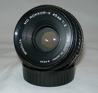 Minolta MD ROKKOR-X 45MM 1:2