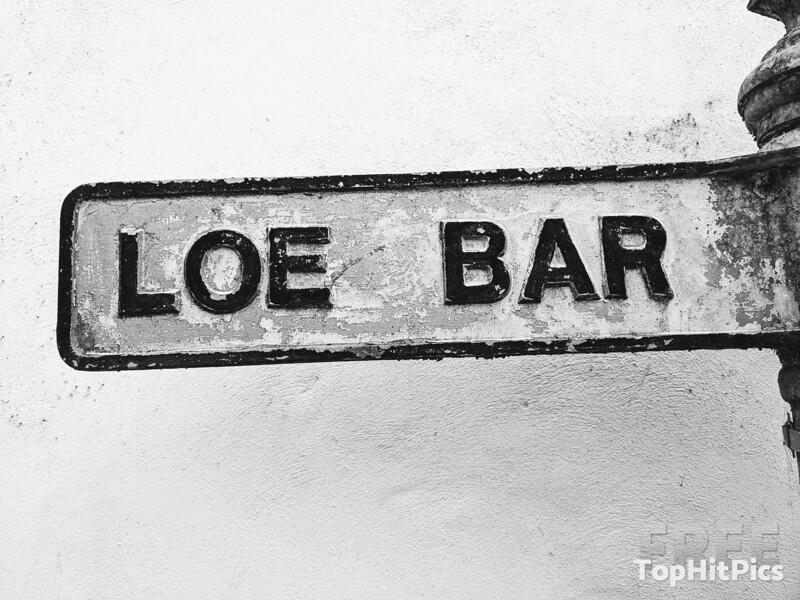 Loe Bar Sands Sign in Cornwall, England