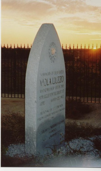 Viola Liuzzo Memorial, site of a moving cermony at sunset - Bob Durkee
