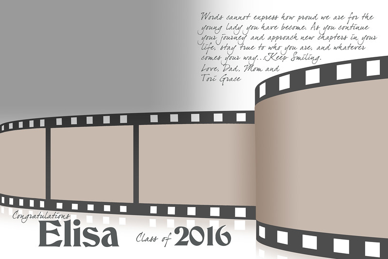 Film Strip - Half Page Template