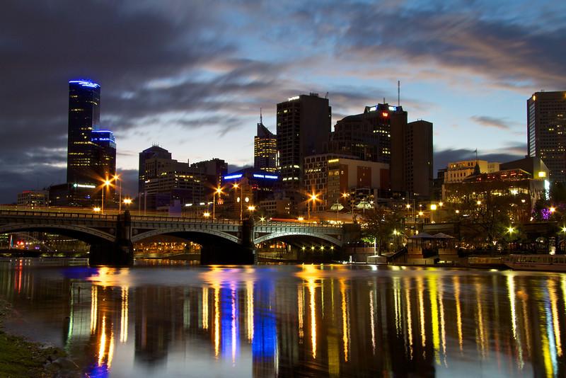 Melbourne At Dusk