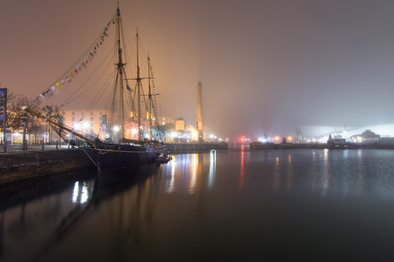 Sailing Ship in Canning Dock, Liverpool
