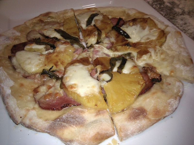 Home Made - Ham and Pineapple Pizza