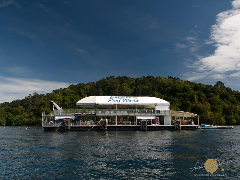 The pontoon within the Tunku Abdul Rahman Park