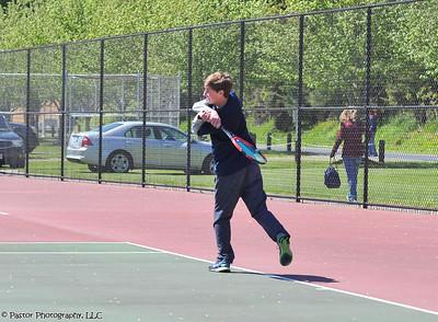 Varsity Tennis Action