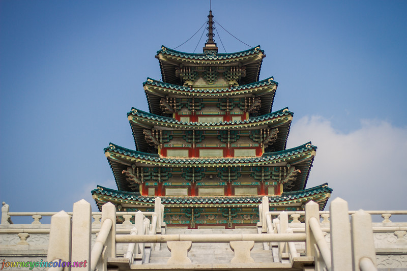 A Tall Pagoda in Seoul, Korea