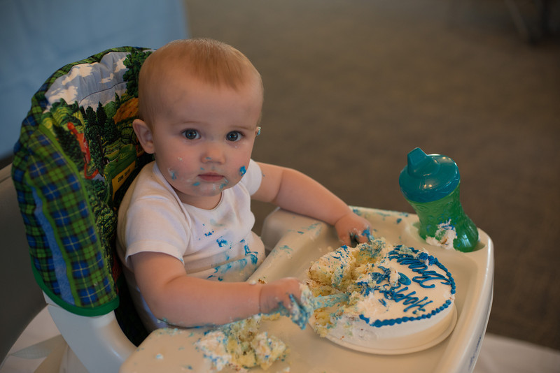 First Birthday Party at Monroe Church of Christ - Smash Cake