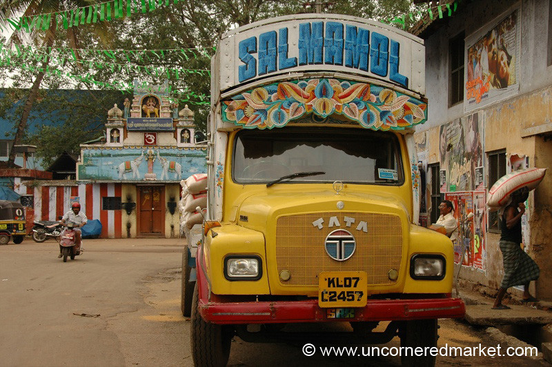 Colorful Goods Carrier - Kollam, India