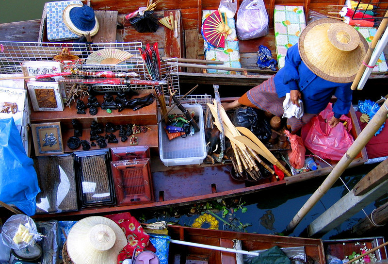 Floating Market vendors - Thailand