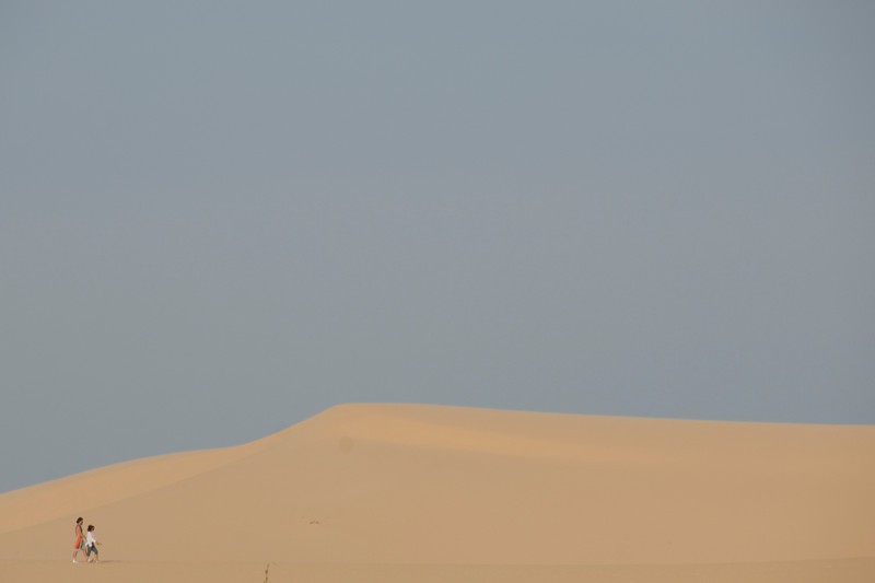 Clear sky over the white sand dunes - Mui Ne, Vietnam