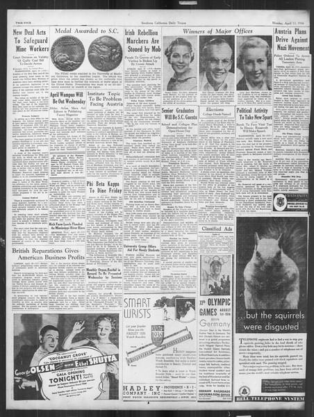 Daily Trojan, Vol. 27, No. 113, April 13, 1936