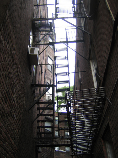 I love fire escapes!  I think everyone should have one.