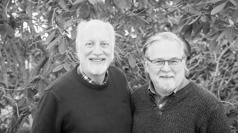 Gene and Bob (b&w)