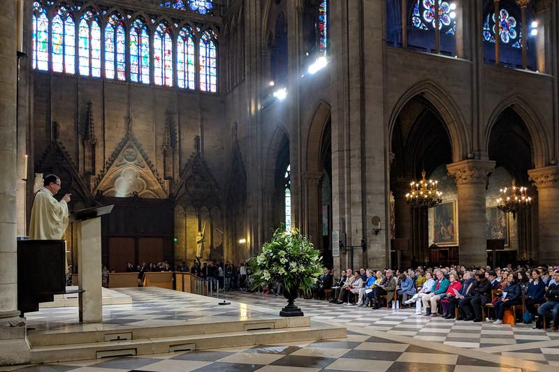 Sunday mass in progress
