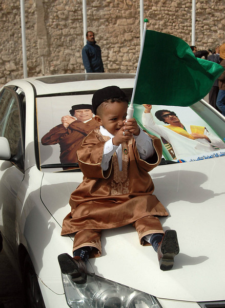 Tripoli: pro-Qaddafi rally, Green Square, February 18, 2011