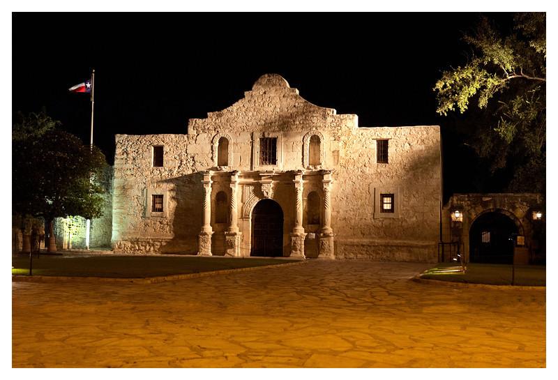 Alamo by night