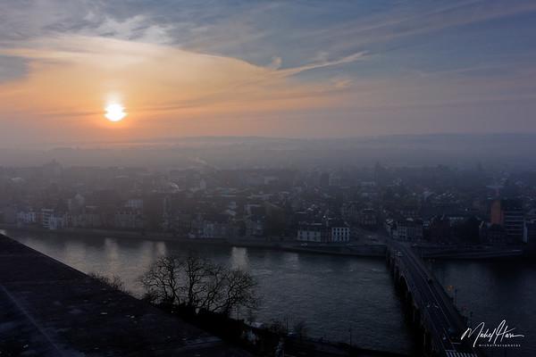 Namur à l'aube