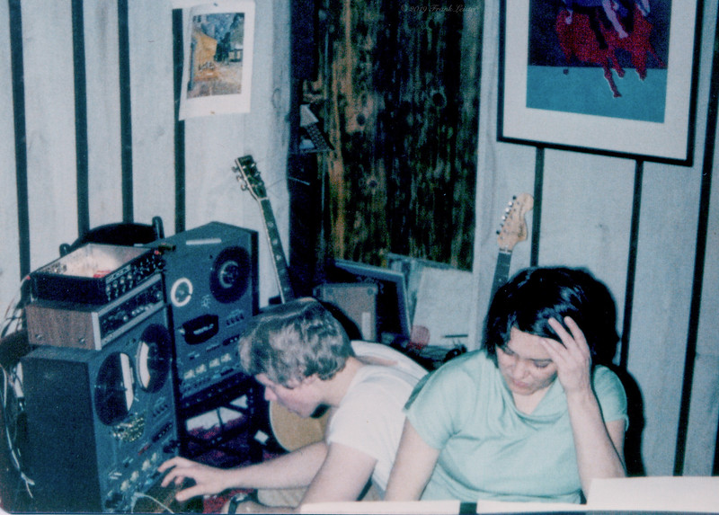FL and Shirley Lebin, recording at her home studio in May 1978.