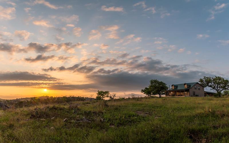 Sunrise on the Ranch House