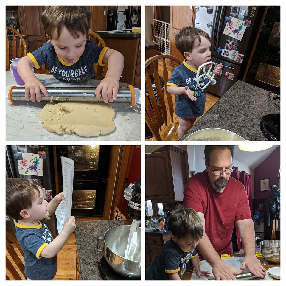 Baking cookies, April 10, 2020