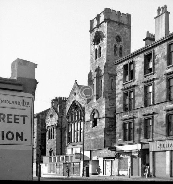 Dundas St, west side. There were two former churches opposite each other, above Cathedral St. This was the Evangelical Union . . .     October 1973