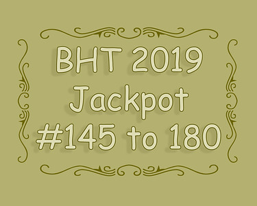 BHT Barrel Racing Jackpot #'s 145 to 180