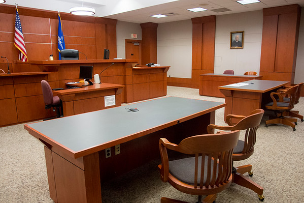 08/30/19 Wesley Bunnell | StaffrrInside of a court room looking from the judge's bench at New Britain Superior Court on Friday August 30, 2019.