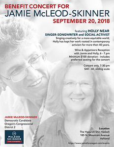 Fundraiser concert poster