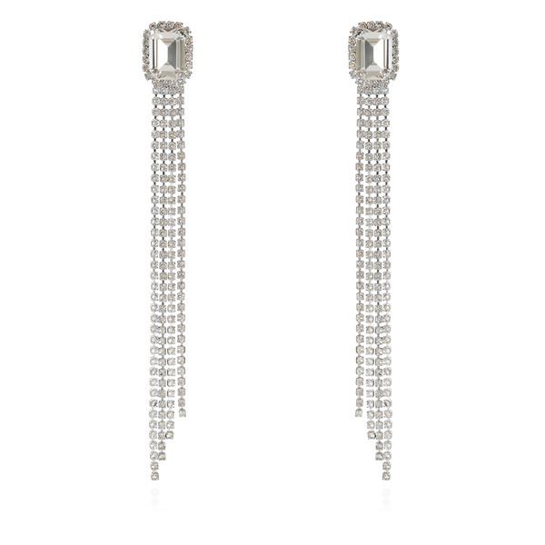 Ivy Earrings / Crystal Rhodium