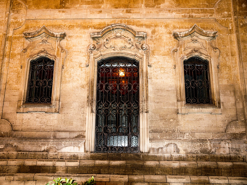 Front facade in Lecce