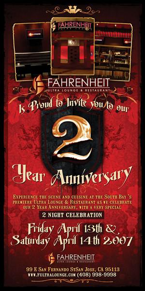 Fahrenheit 2 Year Anniversary 4.13.07 Photos By Berni deNina