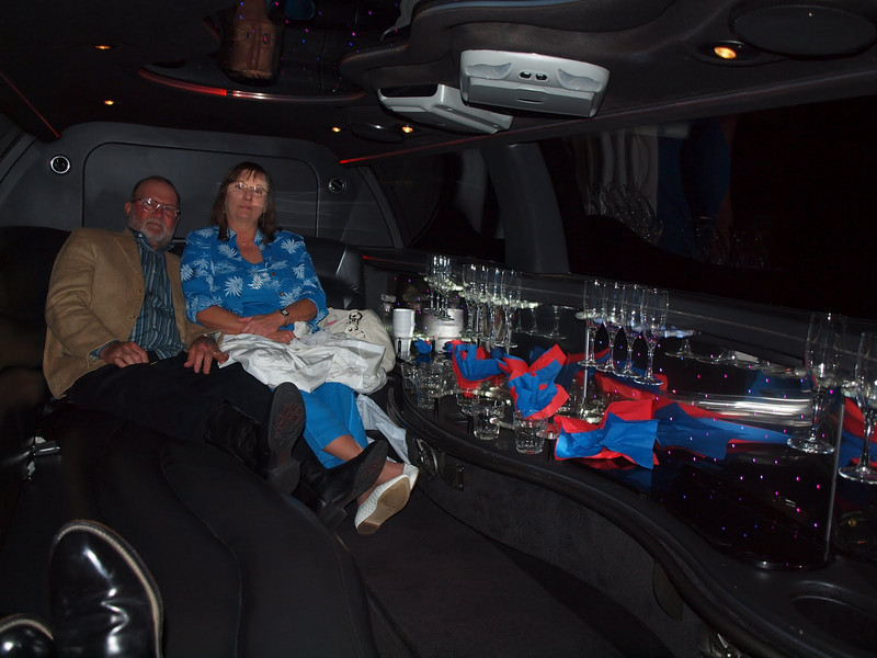 We all had a blast in the limo.