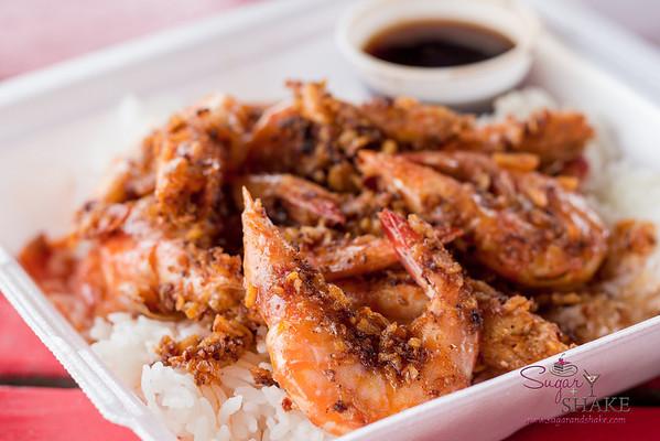 Romy's shrimp plate. © 2013 Sugar + Shake