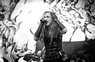 Arch Enemy performing at Tons Of Rock 2018