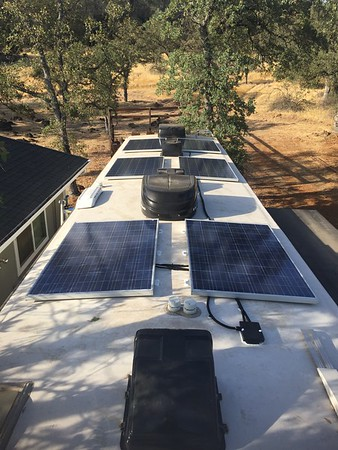 Solar installation on my Toy Hauler RV trailer