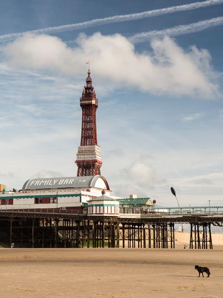 On Blackpool Beach