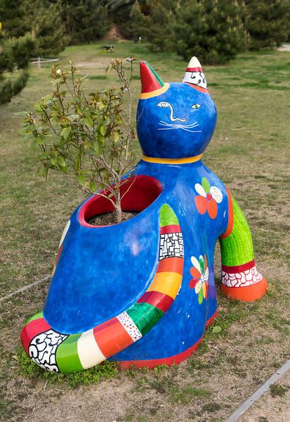 Cat flower-pot, Naoshima