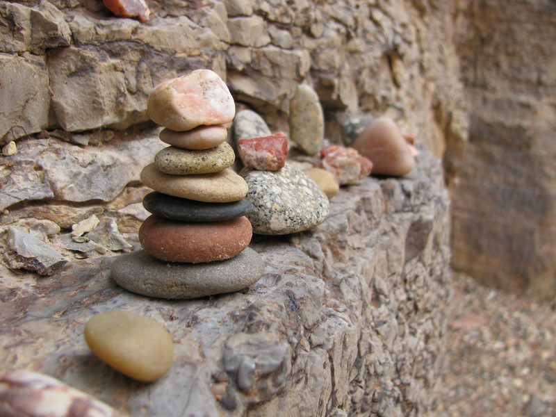 We had to leave our mark somehow, so I built a few small cairns out of pretty rocks..