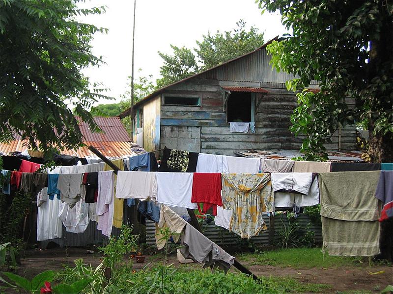 De was hangt buiten in Tortuguero. Costa Rica.