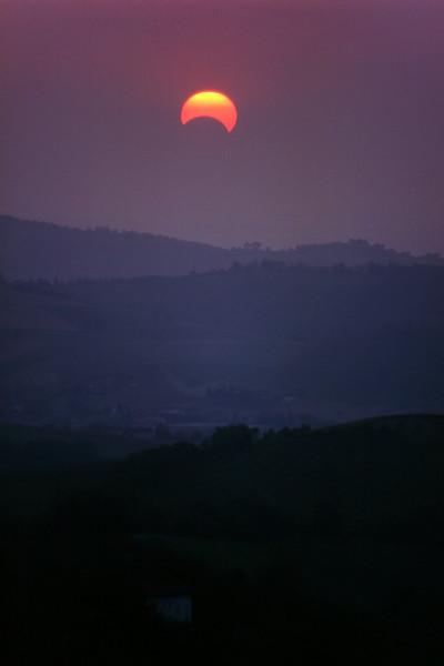 Partial Eclipse of the Sun - Montericco, Albinea, Reggio Emilia, Italy - May 1994